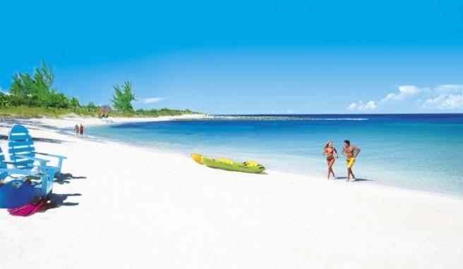 Die kilometerlangen Strände von Guana Cay und Treasure Cay sind wahre Schönheiten der Bahamas.
