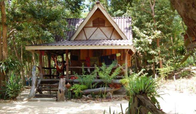 Typische Unterkunft auf Koh Jum, der Bungalow.