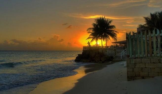 Der Karibiktraum, Sonnenuntergang am Strand von Barbados
