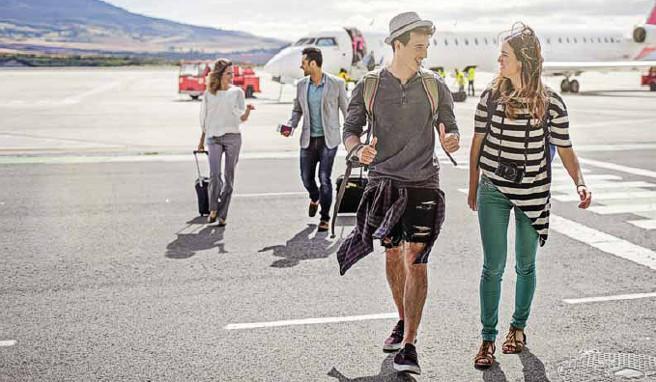 Auf vielen Provinzflughäfen im Süden muss der Weg zur Abfertigungshalle noch zu Fuß zurückgelegt werden