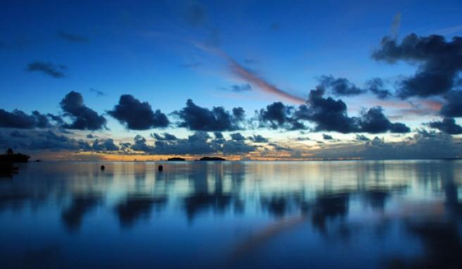 Auf den Cook Islands die Abendstimmung in der Südsee genießen