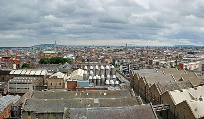 Blick über die irische Hauptstadt Dublin