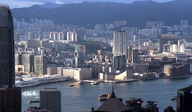 Blick auf Hongkong vom Victoria Peak, China#