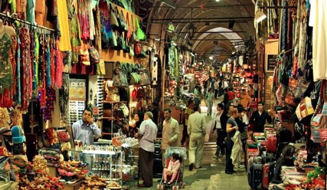 Im Großen Basar von Istanbul, Türkei