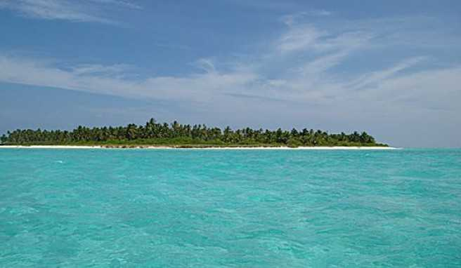 Reisen zu den Lakkadiven und den Robinson-Traum auf unbewohnten Inseln der leben