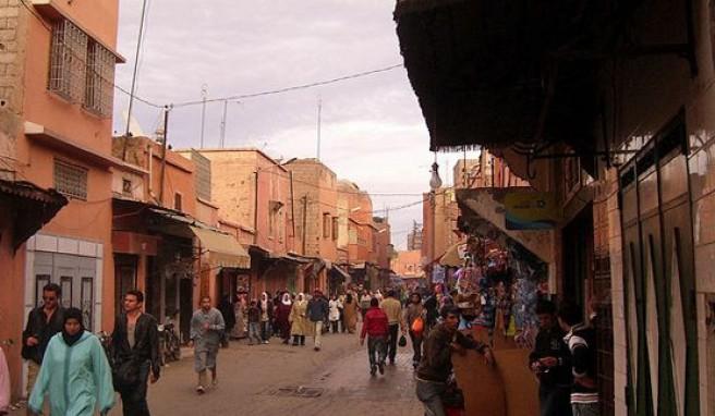 Marrakesch, orientalische Märchenstadt wie aus 1001 Nacht, Marokko