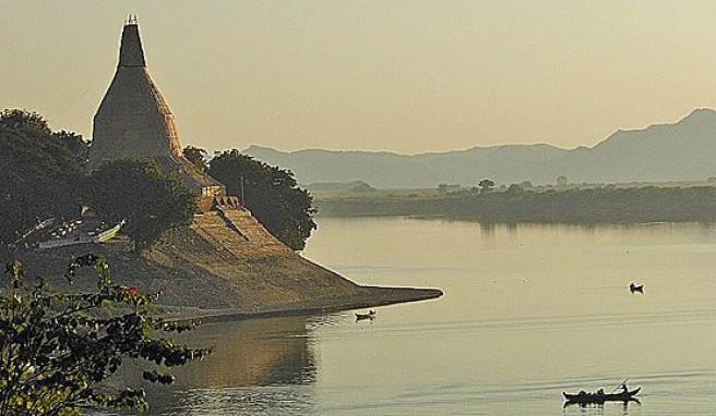 Der Irrawaddy, eine Landschaft wie aus dem Asien-Bilderbuch