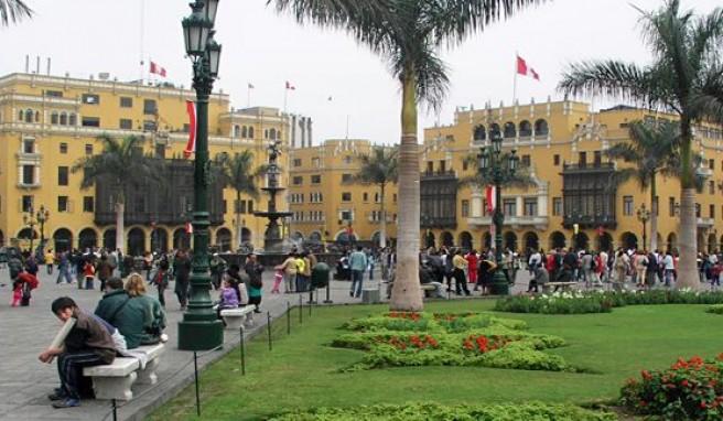 Im Zentrum von Lima, der Hauptstadt von Peru, Plaza de Armas