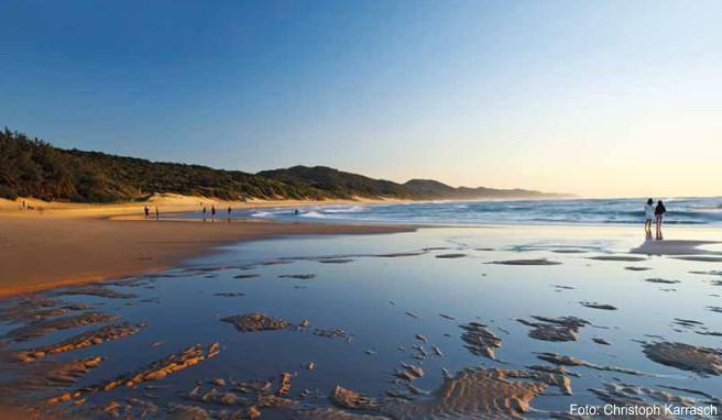 Reges Treiben an der sechs Kilometer langen Beachfront von Durban