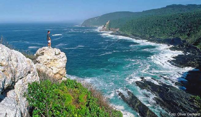 Der wildromantische Küstenabschnitt beim Tsitsikamma-Nationalpark ist ein beliebtes Wanderrevier
