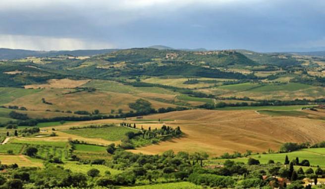 Typische Toskana-Landschaft, Italien