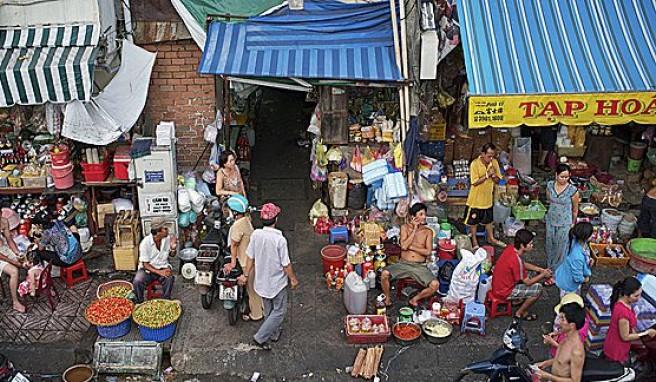 Ho Chi Min City (Saigon)in Süd-Vietnam ist besonders auf den Märkten voller buntem Leben
