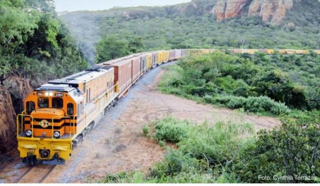 An dieser Schienenstrecke würde der künftige »Ozean-Zug« anschließen. Geplant ist eine 3750 Kilometer lange Strecke von Brasilien über Bolivien bis Peru