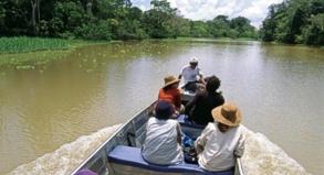 Mit Booten fahren die Agenturen in Iquitos ihre Kunden in die wilde Natur des Amazonasbeckens - es ist der einzige Weg in die Wildnis
