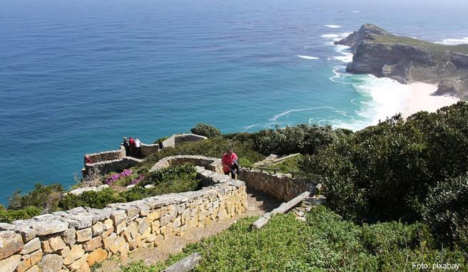 Den besten Blick auf die felsige Landzunge des »Kap der guten Hoffnung« offeriert der Cape Point