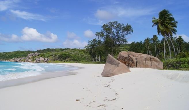 Die Anse Cocos an der Ostküste der Seychellen-Insel La Digue ist ein wahrer Schatz der Natur