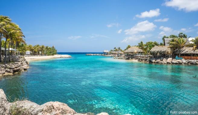 Die Strände auf Curaçao bestechen durch Palmen, wenig Rummel, teils malerische Felsumrahmung und eine vor Wind und Wellen geschützte Lage