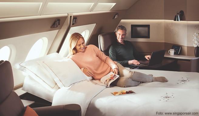 Auch Singapore Airlines kommt dem Wunsch der Gäste nach mehr Zweisamkeit über den Wolken nach