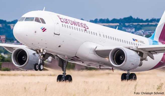 Eurowings fliegt ab sofort zwei Mal am Tag von Berlin-Tegel nach Karlsruhe. Dazu kommt unter anderem eine Verbindung nach Cornwall ab dem 28. April