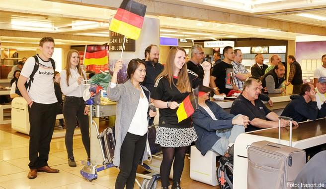Live-Übertragungen am Frankfurter Flughafen