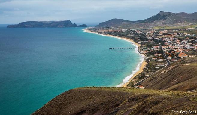 Madeiras Nachbarinsel Porto Santo hat im Gegensatz zur großen Schwester auch lange Sandstrände zu bieten