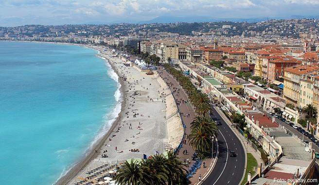 Nicht nur in Nizza liegt der Strand direkt vor der City