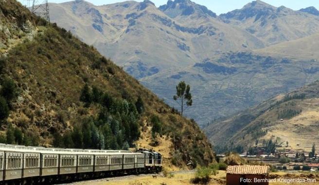 Unterwegs im »Andean Explorer«, kurz vor Cusco: Der Luxuszug durchfährt die peruanischen Anden