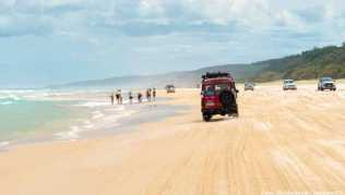 »Rush Hour« am Seventy-Five Mile Beach auf Fraser Island