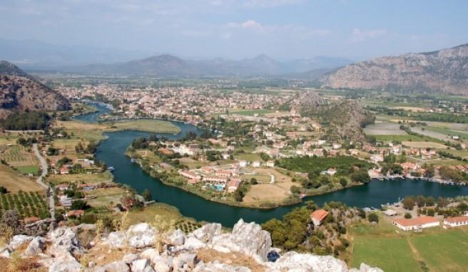 Das Delta von Dalyan ist einzigartig in der Türkei und nicht weit vom Meer entfernt.