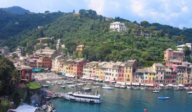 Ein Augenschmaus: Portofino liegt in der italienischen Provinz Lingurien.