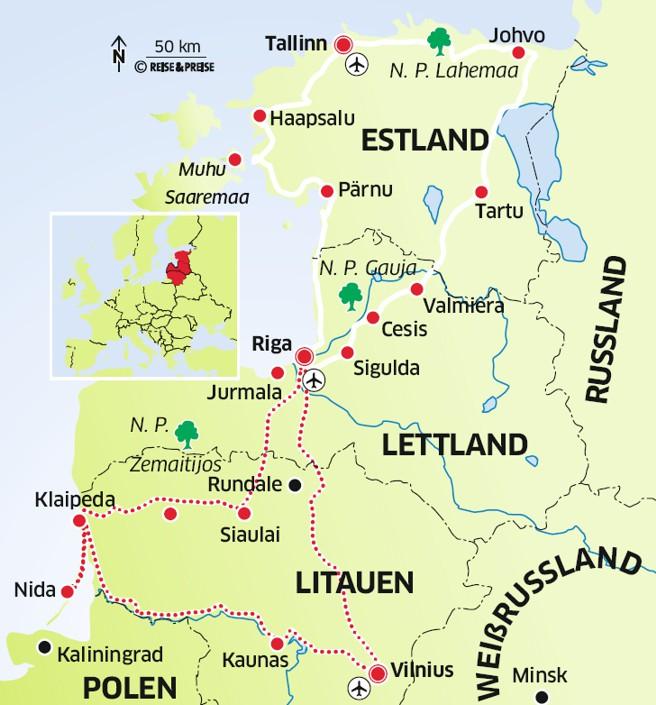 Reise Durch Das Baltikum Im Mietwagen Durch Estland Lettland Und