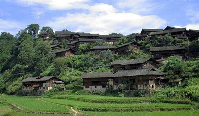 Miao-Dorf in Guizhou, China
