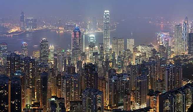 Hongkong Skyline vom Victoria Peak, China