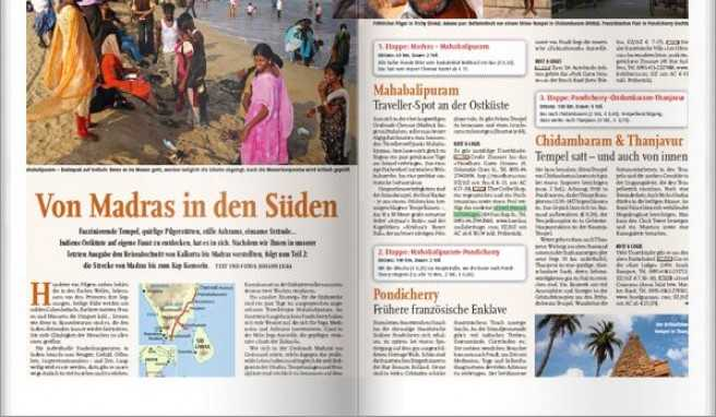 Ergänzend zum Beitrag »Von Madras in den Süden« aus der Ausgabe 2/2011 finden Sie hier Informationen zu Anreise, Klima, Unterkunft und mehr.