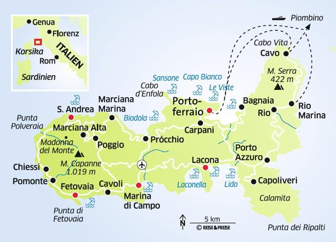 Elba Karte.Italien Elba Schatztruhe Der Toskana