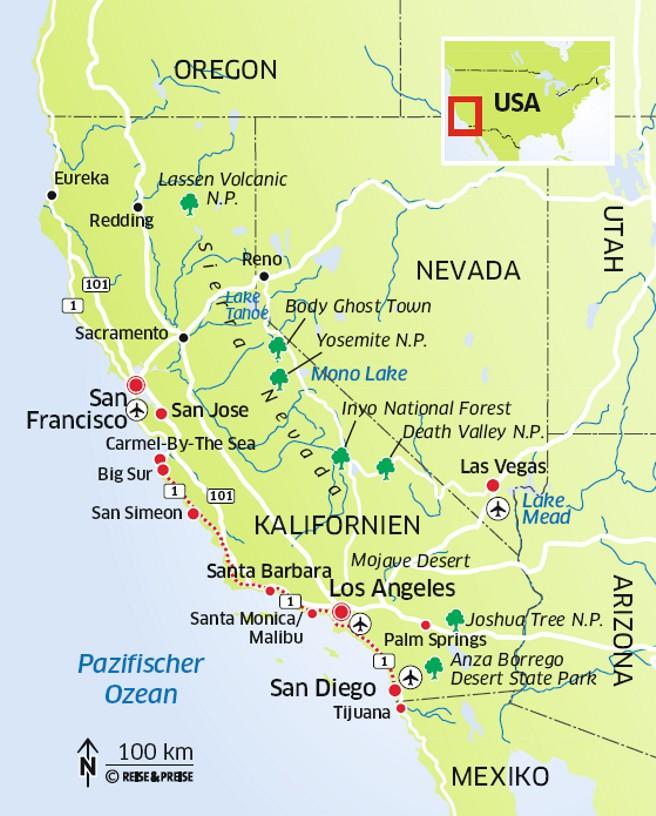 Kalifornien Reichlich Sonne Viel Sand Und Hippe Stadte