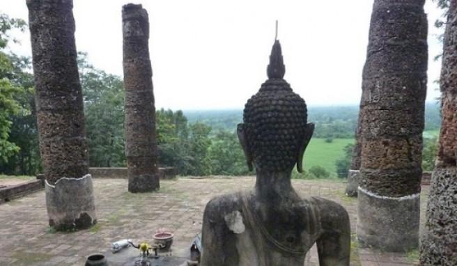 Die Buddahs in Sukothai haben immer den Überblick.