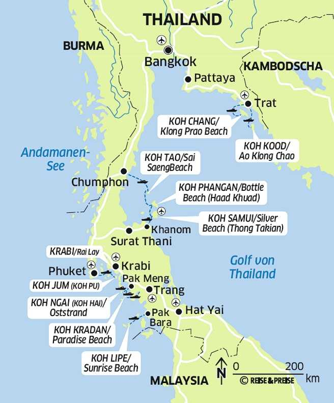 Thailand Inseln Karte.Geheimtipps Vom Insider Die Zehn Schönsten Inseln Und Strände In