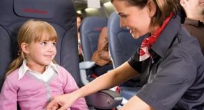 Sicher fliegen: Erst ab zwei Jahren bekommen Kinder in Flugzeugen in der Regel einen eigenen Sitzplatz.