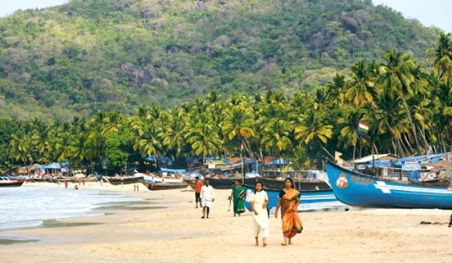 Palolem Beach in Goa ist einer der schönsten Strände von Indien.