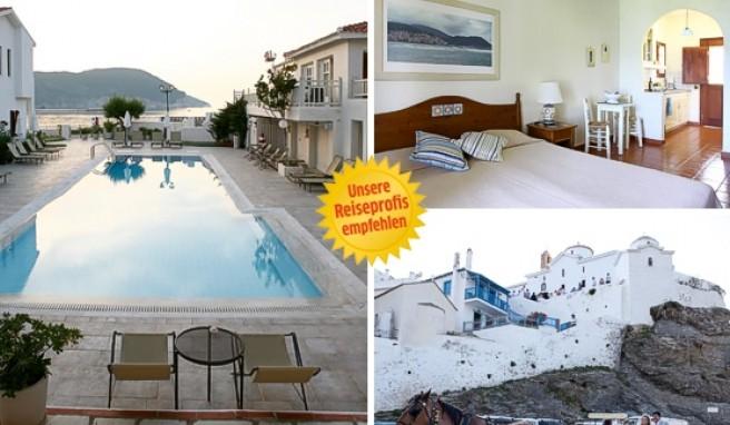 Eine gute Wahl auf der Insel Skopelos in Griechenland ist das Skopelos Village.