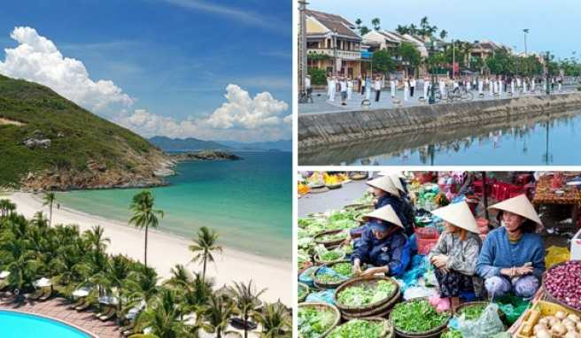 In Zentralvietnam lassen die Strände nichts zu Wünschen übrig. Die Altstadt von Hoi An in Vietnam ist als Weltkulturerbe anerkannt.