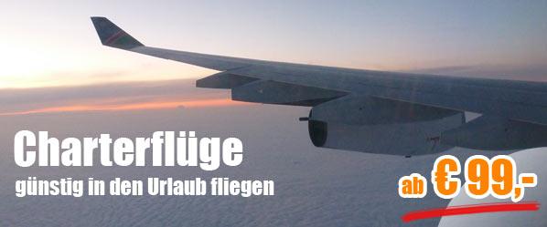 Charterflüge weltweit